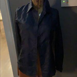Yves Saint Laurent blue silk blouse